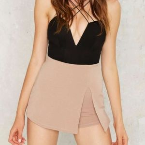 nasty gal slit pretty stretch skort